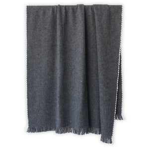 Isabel in Gray Alpaca/Wool Throw