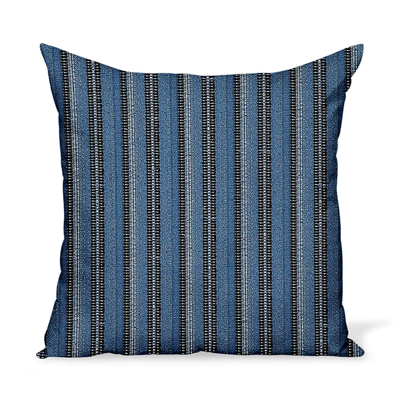 Peter Dunham Textiles Outdoor Majorelle in Black on Indigo Pillow