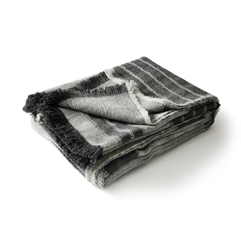 Manta in Charcoal Alpaca Bedcover