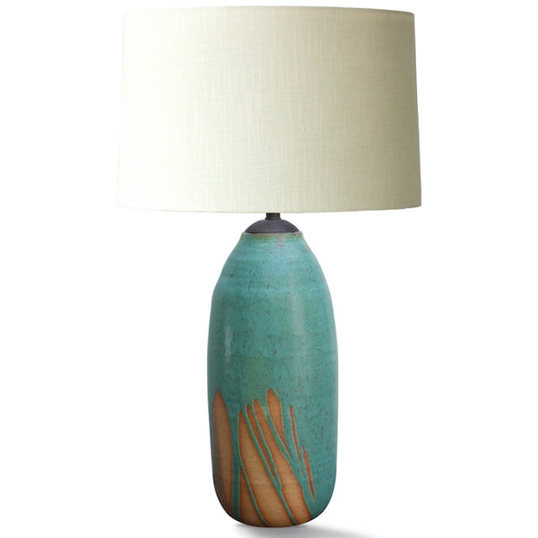 Natan Moss Tall Teal Drip Lamp