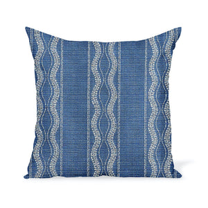 Peter Dunham Textiles Outdoor Zanzibar in Lapis