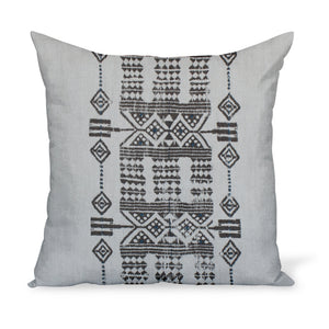 Sheba in Indigo is a tribal linen print from Peter Dunham Textiles. The decorative cushion or pillow is available in a variety of sizes!