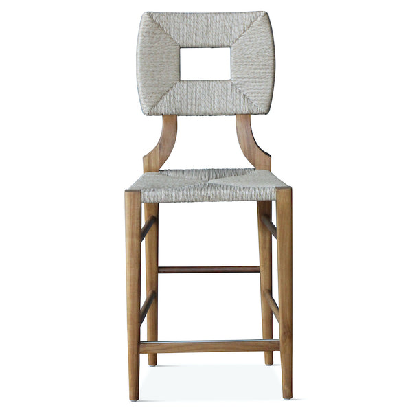 Indoor/Outdoor How to Marry a Millionaire Counter Stool in Charcoal or Sand