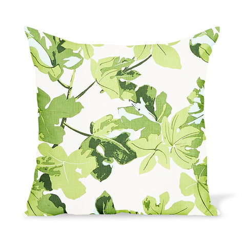 Peter Dunham Textiles Fig Leaf in Faded on Hemp Pillow