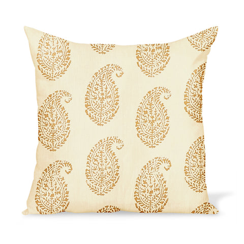 Peter Dunham Textiles Kashmir Paisley in Gold/Natural Pillow