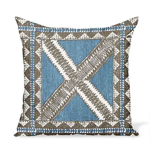 Peter Dunham Textiles Zulu in Indigo Pillow