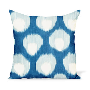 Peter Dunham Textiles Outdoor Bukhara in Blue/Blue Pillow
