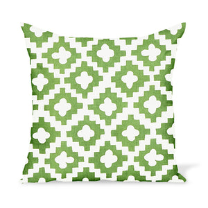 Outdoor pillow by Peter Dunham Textiles, a graphic, tribal motif with artisan flair.