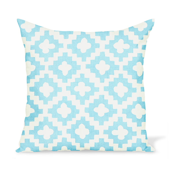 Peter Dunham Textiles Outdoor Peterazzi in Pale Indigo Pillow