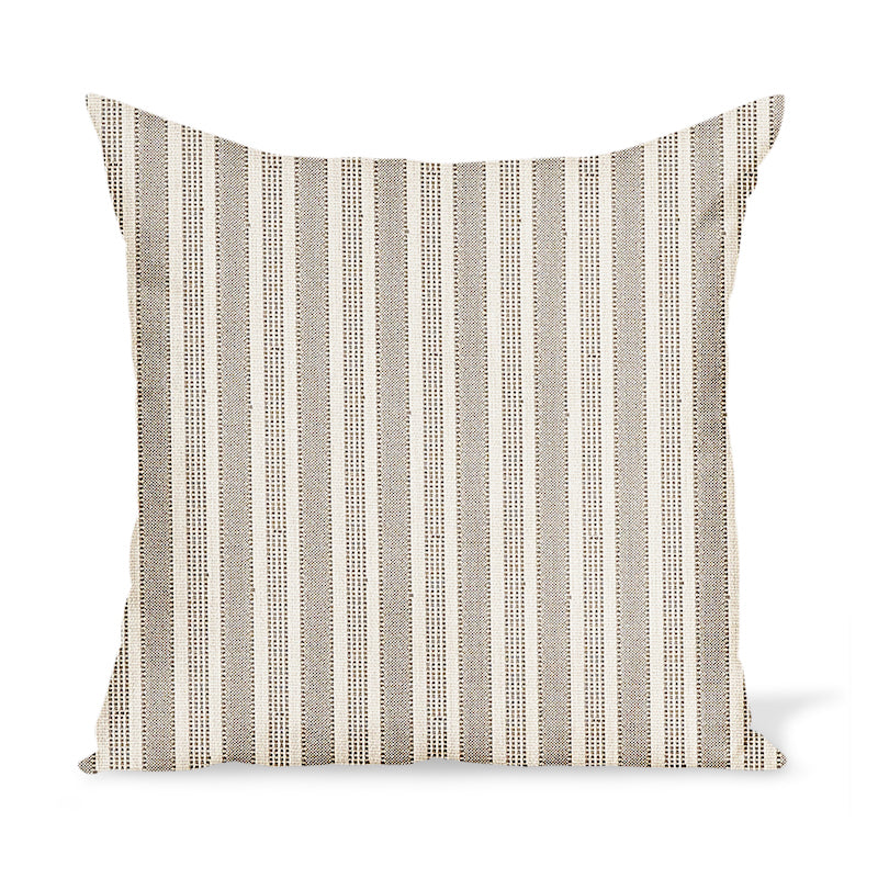 Peter Dunham Textiles Outdoor Amida in Stone on Natural Pillow
