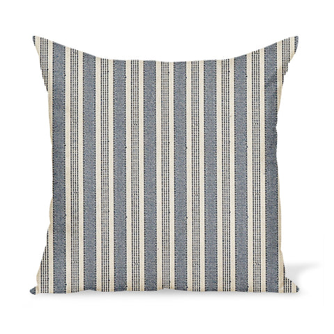 Peter Dunham Textiles Outdoor Amida in Indigo on Natural Pillow