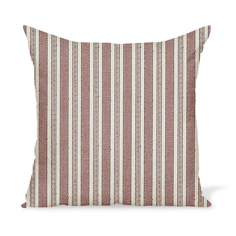 Peter Dunham Textiles Outdoor Amida in Red on Natural Pillow