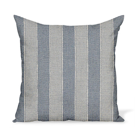 Peter Dunham Textiles Outdoor Asilah in Indigo on Natural Pillow