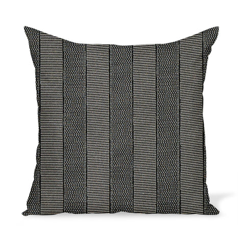 Peter Dunham Textiles Outdoor Asilah in Black on Natural Pillow