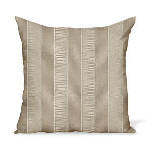 Peter Dunham Textiles Outdoor Asilah in Stone on Natural Pillow