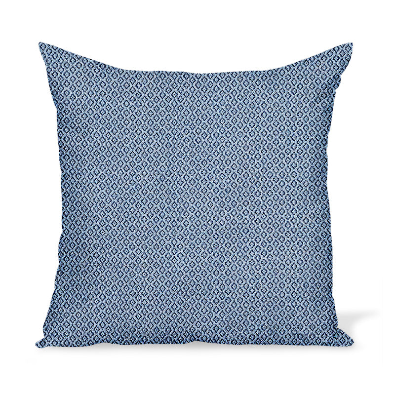 Peter Dunham Textiles Outdoor Heera in Indigo/Sky Pillow