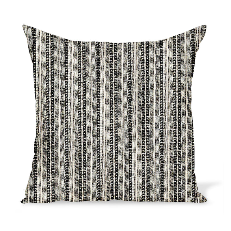Peter Dunham Textiles Outdoor Majorelle in Black on Natural Pillow