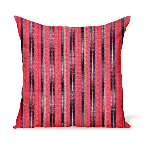 Peter Dunham Textiles Outdoor Majorelle in Indigo on Ruby Pillow