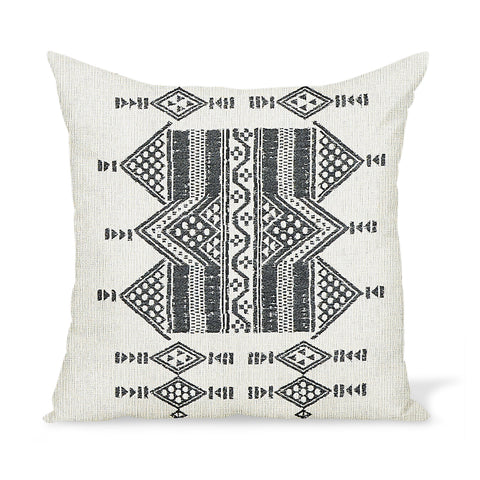 Peter Dunham Textiles Outdoor Mombasa in Black on Natural Pillow