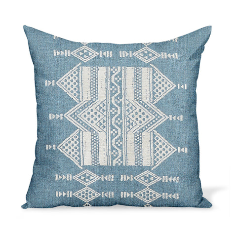 Peter Dunham Textiles Outdoor Mombasa in Sky Pillow