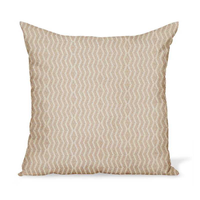 Peter Dunham Textiles Outdoor Persis in Stone on Natural Pillow