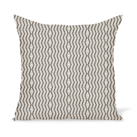 Peter Dunham Textiles Outdoor Persis in Charcoal on Natural Pillow