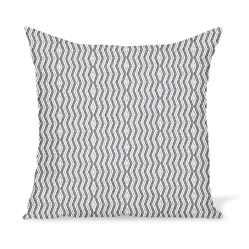 Peter Dunham Textiles Outdoor Persis in Indigo on Natural Pillow