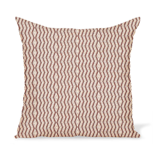 Peter Dunham Textiles Outdoor Persis in Red on Natural Pillow
