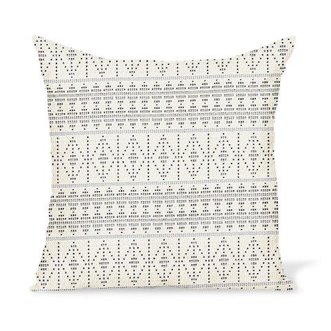Peter Dunham Textiles Outdoor Souk in Onyx/Indigo Pillow