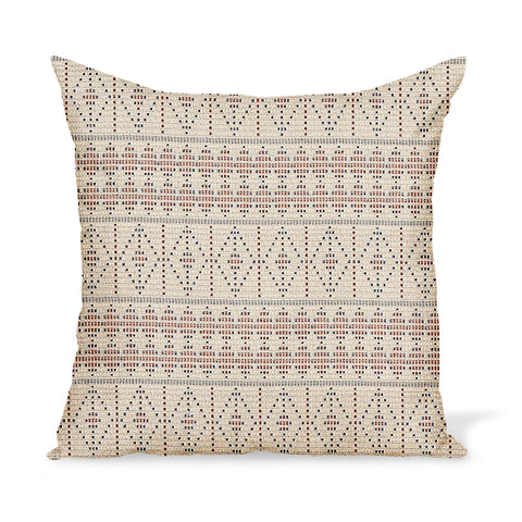 Peter Dunham Textiles Outdoor Souk in Red/Indigo Pillow