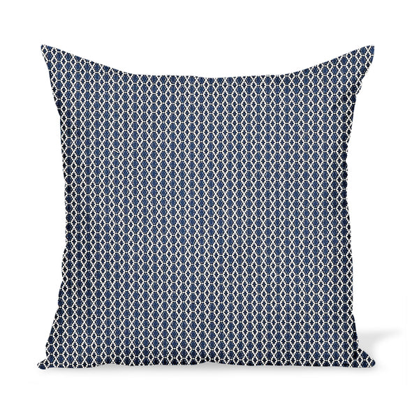 Peter Dunham Textiles Outdoor Susa in White on Indigo Pillow