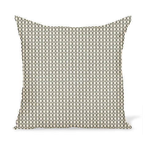 Peter Dunham Textiles Outdoor Susa in Green on Natural Pillow
