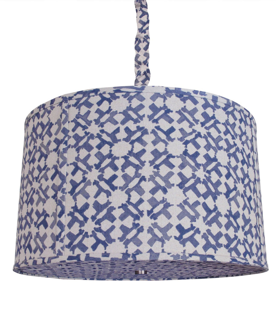 Upholstered Hanging Shade- Flat Welt