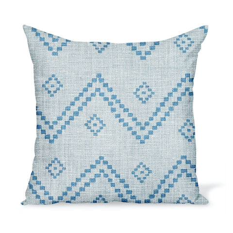 Peter Dunham Textiles Taj in Mist/Indigo Pillow