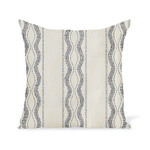 Peter Dunham Textiles Outdoor Zanzibar in Natural/Blue
