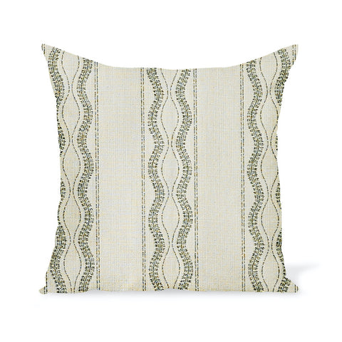 Peter Dunham Textiles Outdoor Zanzibar in Natural/Moss