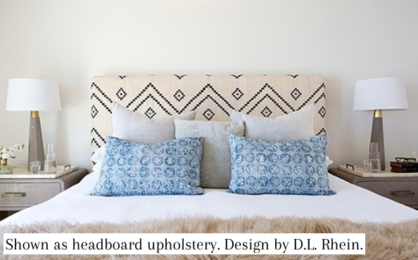 Patna Indian Bedcover in Deep Indigo/Ivory