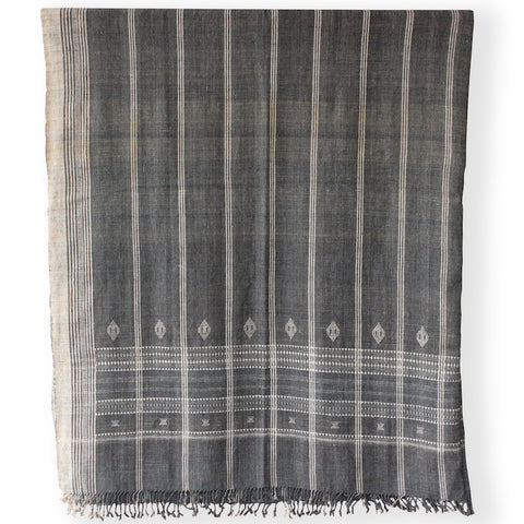 Hollywood at Home founder Peter Dunham worked with Indian hand weavers to create our 100% wool embroidered bedcover. The gray blanket's generous scale is perfect for easily dressing a queen or king bed. They also work beautifully as curtains, Roman shades, and even upholstery.