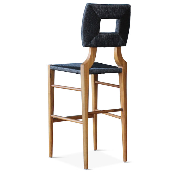 Indoor/Outdoor How to Marry a Millionaire Barstool in Charcoal or Sand