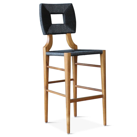 Outdoor How to Marry a Millionaire Barstool in Charcoal