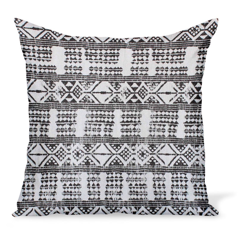 Cushion or pillow made from Peter Dunham Textiles Addis, a tribal linen print