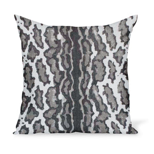 This modern take on a leopard print makes for a fun pillow! Fabric by Peter Dunham Textiles