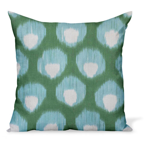 Peter Dunham Textiles Bukhara in Green/Blue Pillow