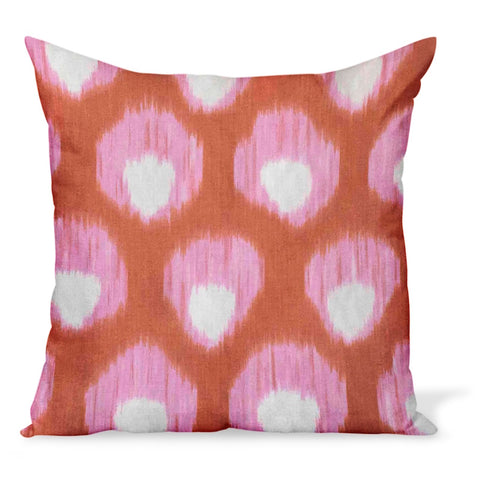 Peter Dunham Textiles Bukhara in Pink/Orange Pillow