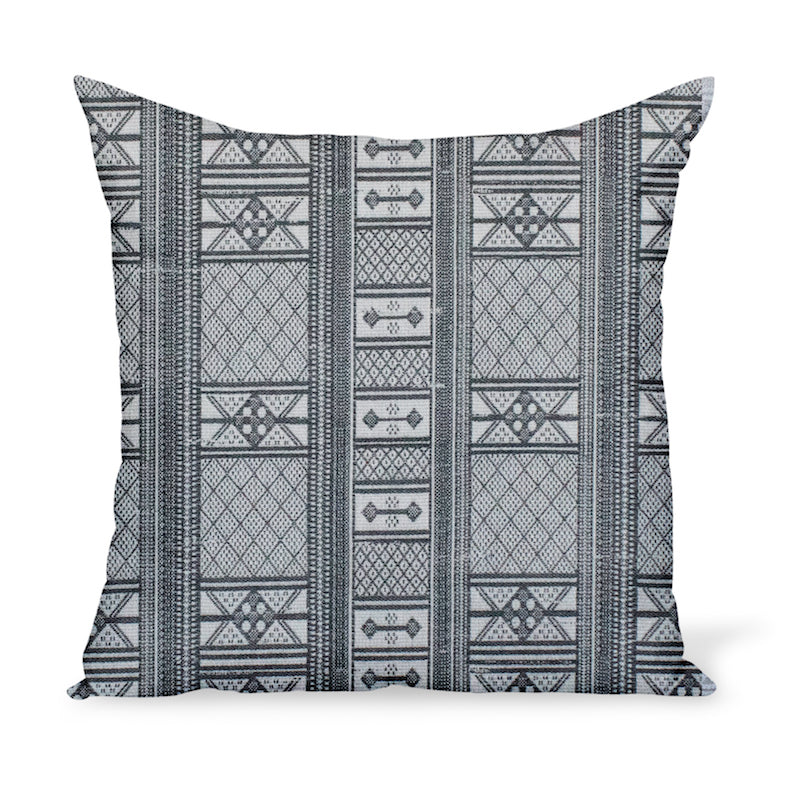 Peter Dunham Textiles Sunbrella black Masai tribal stripe for indoor/outdoor use, pillow or cushion in various sizes
