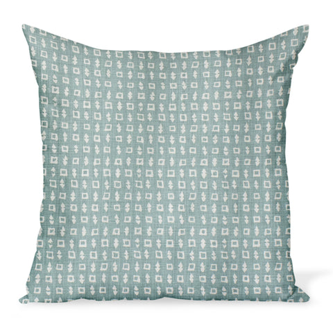 Peter Dunham Textiles Wabi in Ocean Pillow