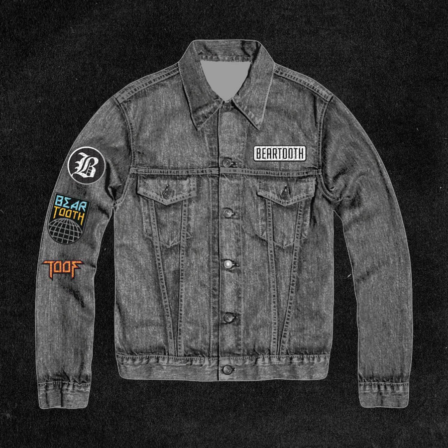 Acid Wash Patch Denim Jacket