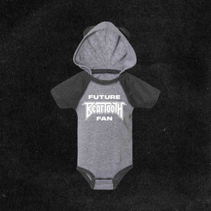Future Fan Bear Onesie - Grey