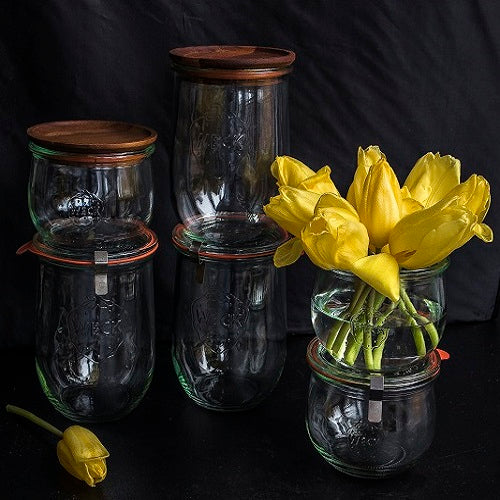 Weck Tulip Jars | Wooden Lids | Case of 6