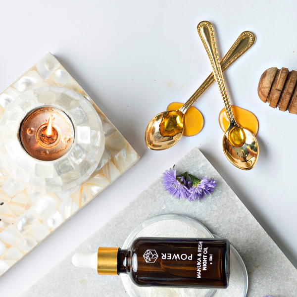 High potency natural skincare featuring manuka honey and bee venom